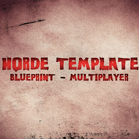 MP Blueprint Horde Game Template is a basic game framework designed for multiplayer based on blueprints.