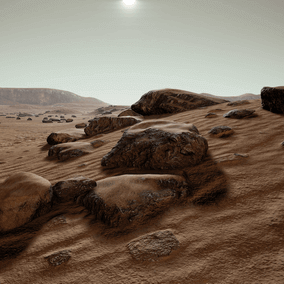 Advanced Mars landscape concept 4K