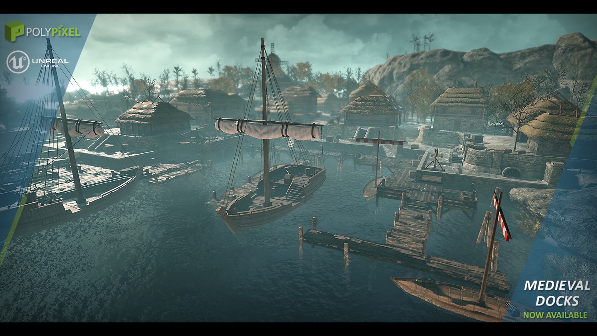 Medieval Docks By Polypixel In Environments Ue4 Marketplace