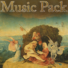A collection of nineteen original music tracks in a medieval or renaissance instrumental or choral style that is ideal for fantasy and medieval times themed role playing games.