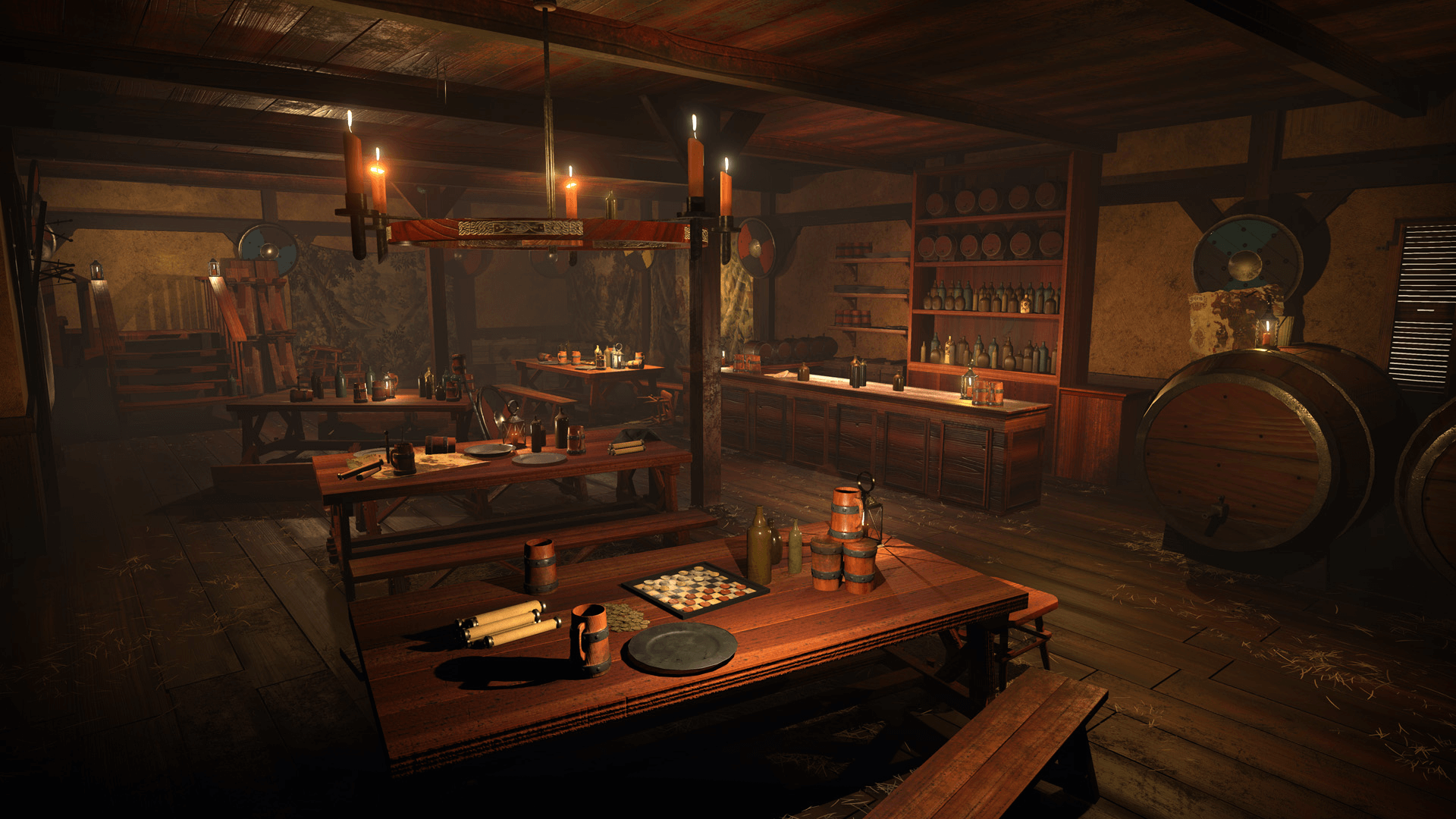 New Home Blueprints Medieval Tavern By Brett Johnson In Environments Ue4