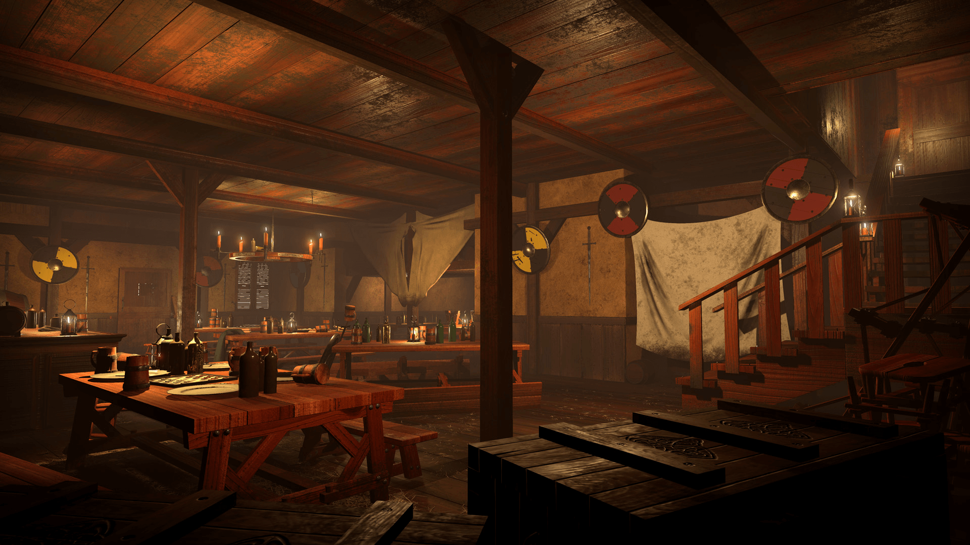 medieval tavern by brett johnson in environments   ue4