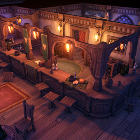 Build your own inn or tavern with this pack of hand painted modular assets