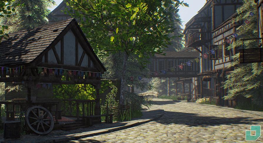 medieval town dokyo 環境 ue4 マーケットプレイス