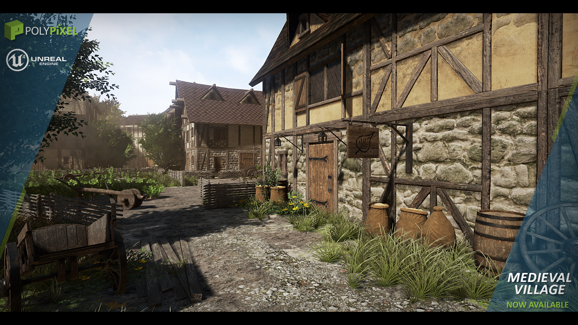 Realistic Home Design Games Free Medieval Village By Polypixel In Environments Ue4