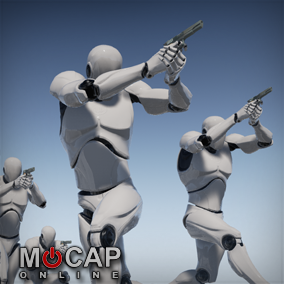 214 Military Pistol Motion Capture Animations