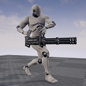 This is a set of 97 motion capture animations for TTP Character with minigun.