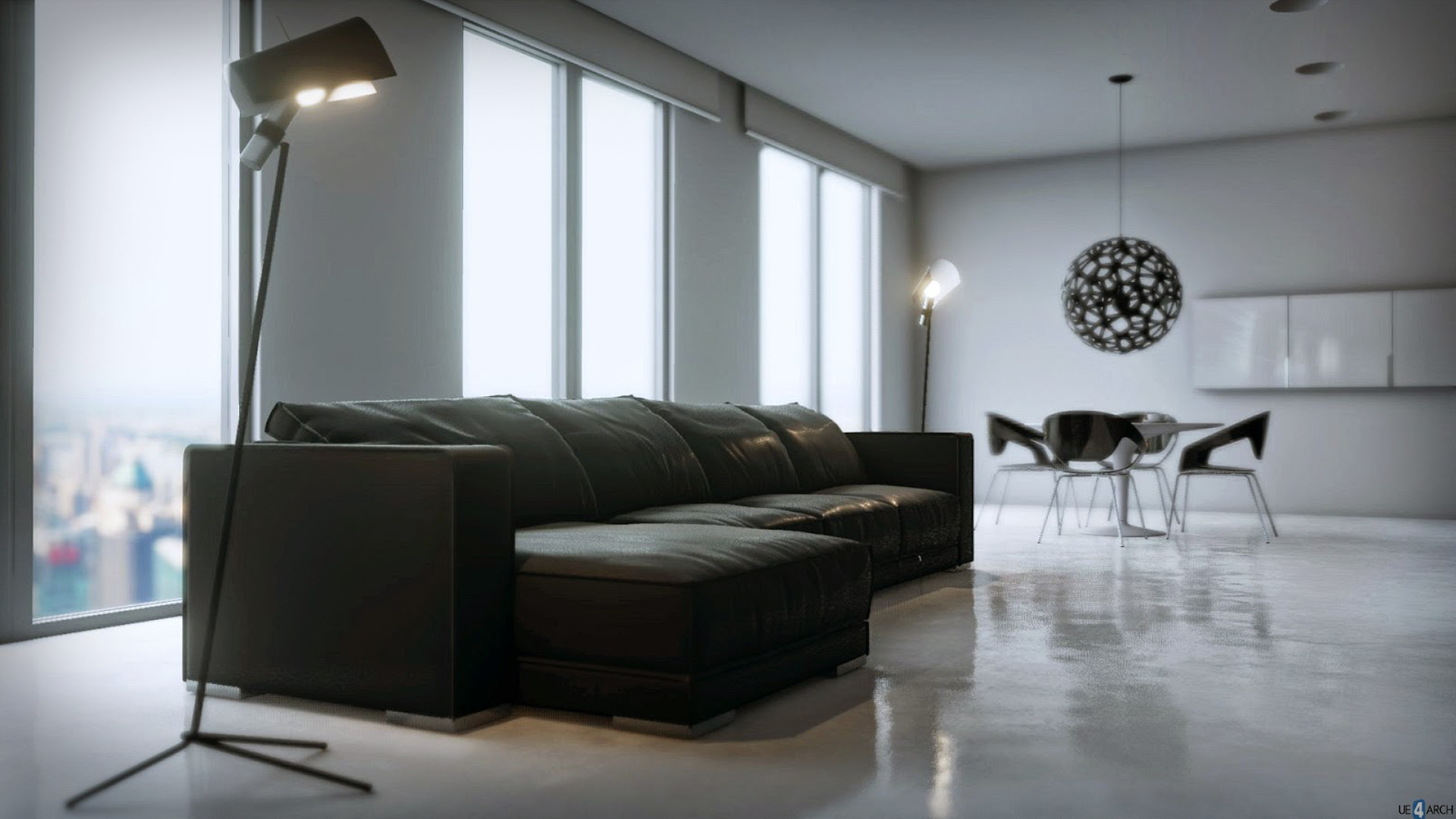 minimalist apartment by 4archviz in architectural visualization ue4