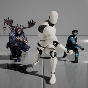 Editor plugin for precise and automated retargeting of skeletons, skeletal meshes and animations created with and exported from Mixamo tools (Auto-Rigger, 3D Characters, 3D Animations).