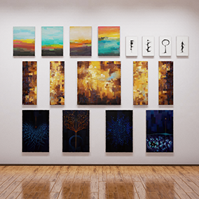 20 high quality 4k modern paintings for architectural visualizations and 