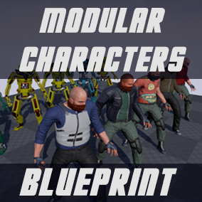 Create modular randomised characters (meshes, materials and materials parameters) with a powerful blueprint system.