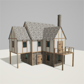 This tool allows for the quick creation of medieval houses by utilizing blueprints. Perfect for the creation of large towns in small periods of time. It features 19 meshes, that vary from doors to balconies and entire building wings.