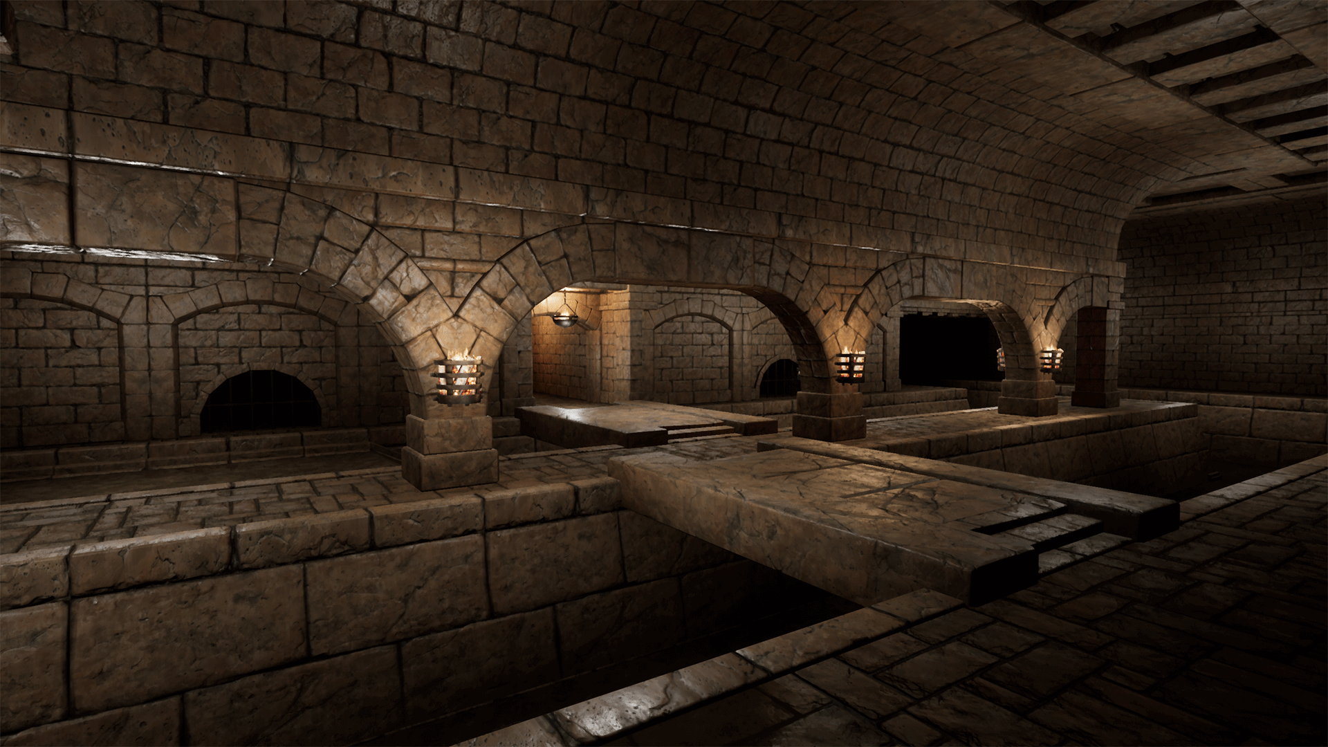 Modular Medieval Sewer Dungeon By Polygon Rogue In