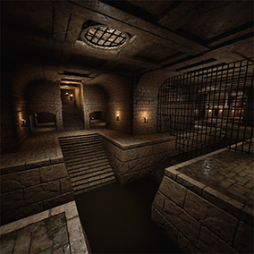 Medieval inspired Modular Sewers for your all your fantasy dungeon needs. Includes blueprint of braziers with attached lights for and interactive door. Couple tile-able textures materials; Brick, Massive Stone Brick, Floor Stone pattern,Water, Sewage.