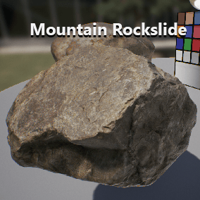 6 high resolution rocks and 4 terrain materials. All content is taken from photo scanned sources.