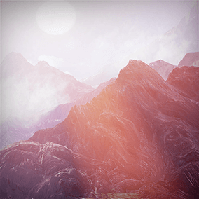 Collection of 3 background mountains with five different texture sets for each mesh. Can be used to create outdoors scenery, background vistas, peaks, valley.