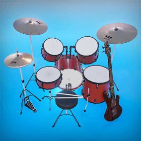 Musical Instruments pack contains 27 unique musical instruments and equipment.