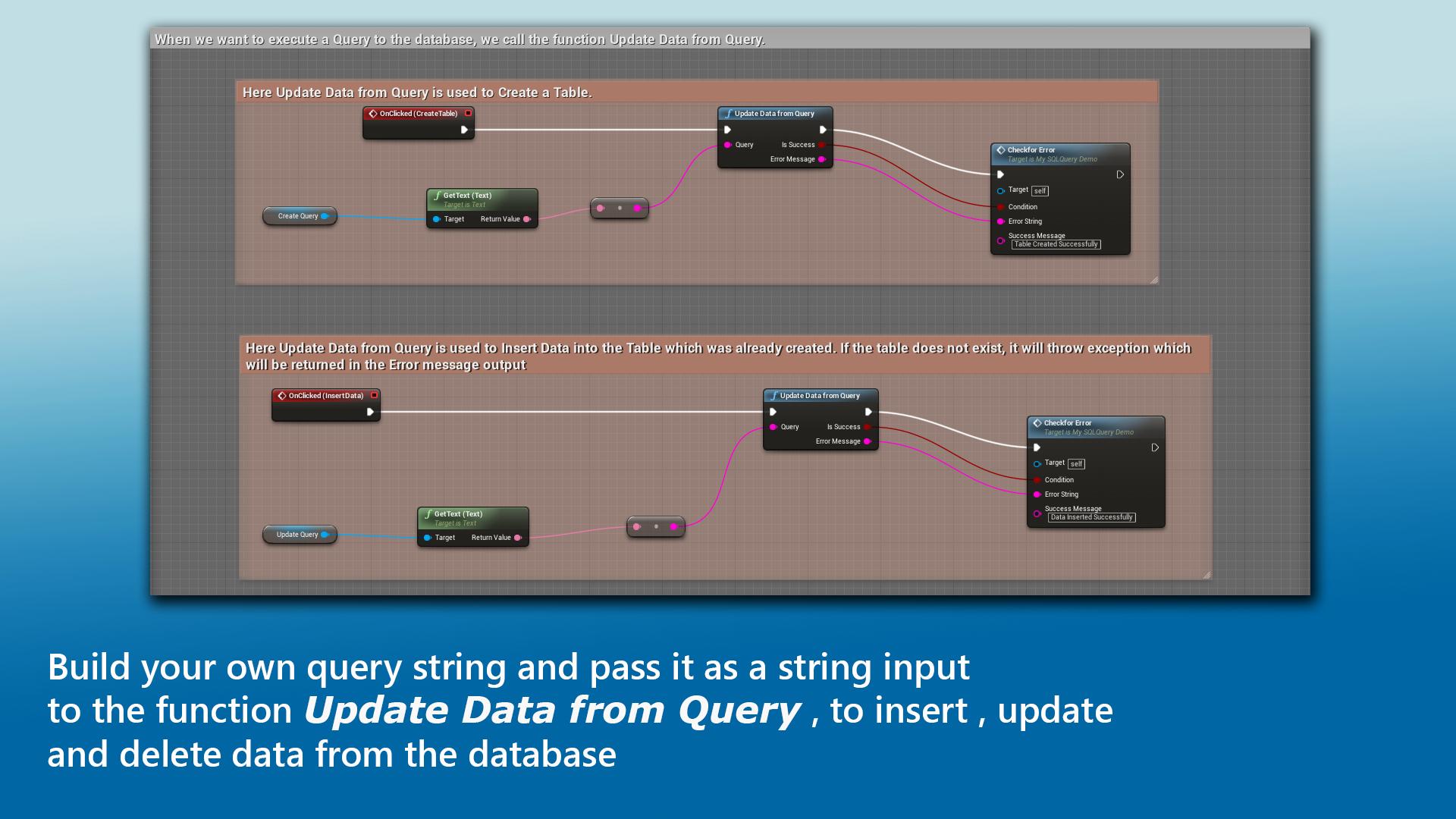MySQL Integration by Sameek Kundu in Code Plugins - UE4