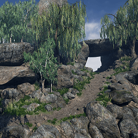 This pack contains environment models, materials and texture sets. You will find here very optimized assets such like: trees, rocks, stones, grass, landscape materials and textures. This asset is perfect for games and ArchViz.