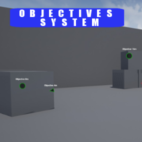 100% Blueprint system that allows to add objectives storage in any character Blueprint and draw markers in desired HUD. This system will let you add and set new objectives in a fast and easy way.