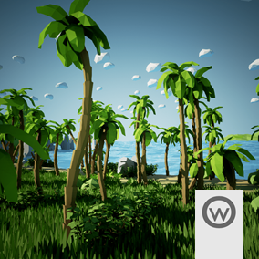 Asset package equipped with everything you need to design stylized Low Poly Coast environments.