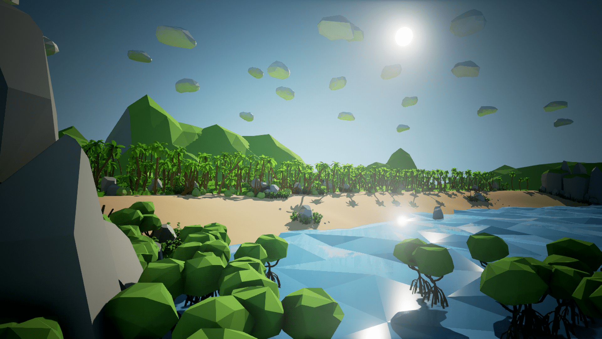 Olbert's Low Poly: Coast by Whitman And Olbert in Environments - UE4