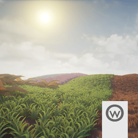 30 Grass and Ground Plants Pack, for extend the possibilities of Olbert's Low Poly Series.