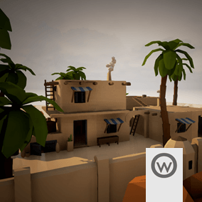Modular assets pack, for design Desert-like buildings.