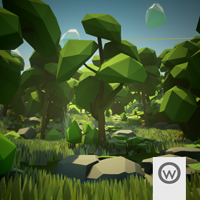 Asset package equipped with everything you need to design stylized Low Poly forest environments.