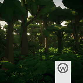 Asset package equipped with everything you need to design stylized Low Poly Jungle environments.