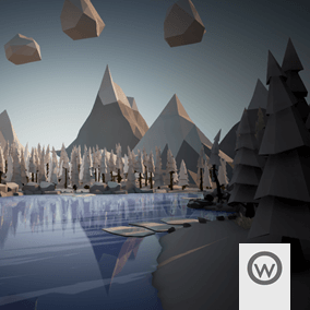 Asset package equipped with everything you need to design stylized Low Poly Taiga environments.