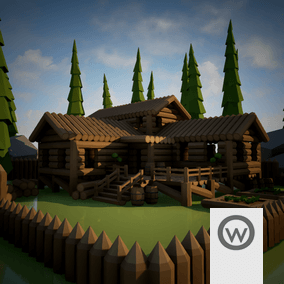 Modular assets pack, for desing wood buildings.