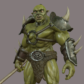 Here is a dangerous orc ready to beat any player character to death pretty quickly.