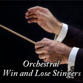 "A collection of short orchestral fanfares, perfect for win and lose situations, end levels, finisher, success, failures, bonus, etc. There is also a big ""Ta Da"" sound, in two variations (normal and dissonant) and two rising orchestral ""clusters""."