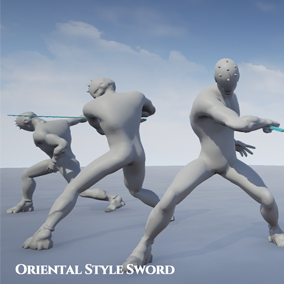 Oriental Sword Animation Set is 21+10 set motions.