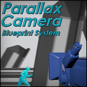 The Parallax Camera Blueprint System provides a quick and easy means by which to add parallaxing background elements to an orthographic camera for use in a 2D game.