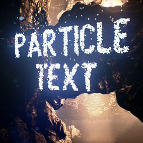 Emit particles from user-defined text. Text can be specified directly on the emitter module, or customized in the class defaults and at runtime in blueprints via a special ParticleTextParamComponent.