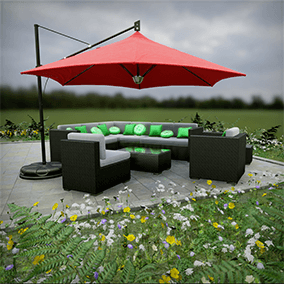 A huge collection of high quality Patio furniture, ready to be used in next-gen games.