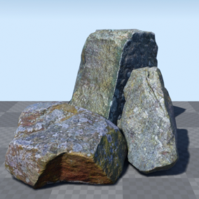 A set of 8 highly realistic, game ready photo-scanned rocks