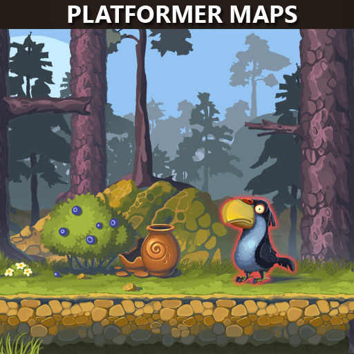 Three types of maps for platformer games.