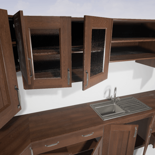 Procedural Cabinets is a blueprint tool for Unreal Engine 4 which allows you to create different type of cabinet sets quickly using modular assets. It can also be easily integrated with custom Pawns to allow interaction with doors and drawers.