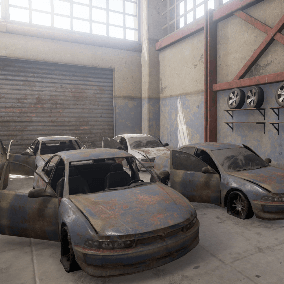 A set of 3 highly customisable abandoned vehicles meant for use as environment props.