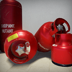 Low poly Propane-Butane Gas Tank models for Your Exterior/Interior scenes.
