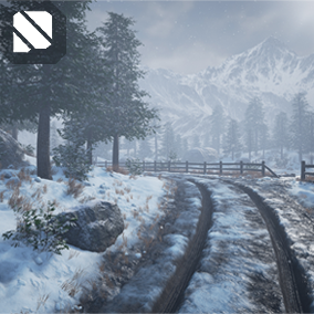 Procedurally Generated Winter and Spring nature scenes with these easy to use assets and blueprints!