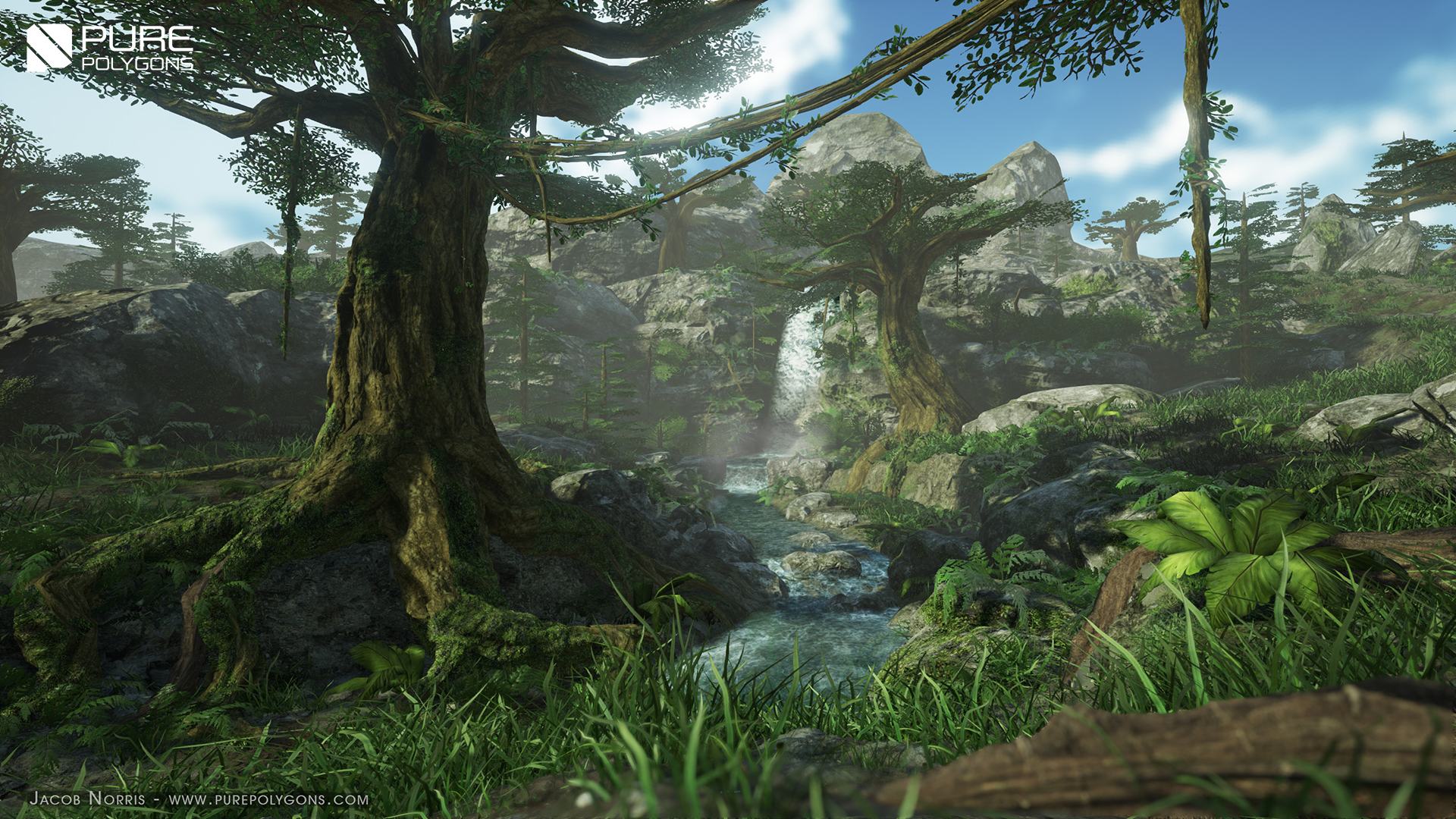 Procedural Nature Pack Vol 1 by PurePolygons in Environments - UE4