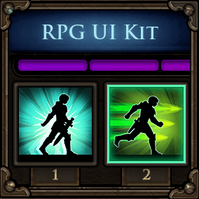 A fantasy/medieval RPG user interface kit.