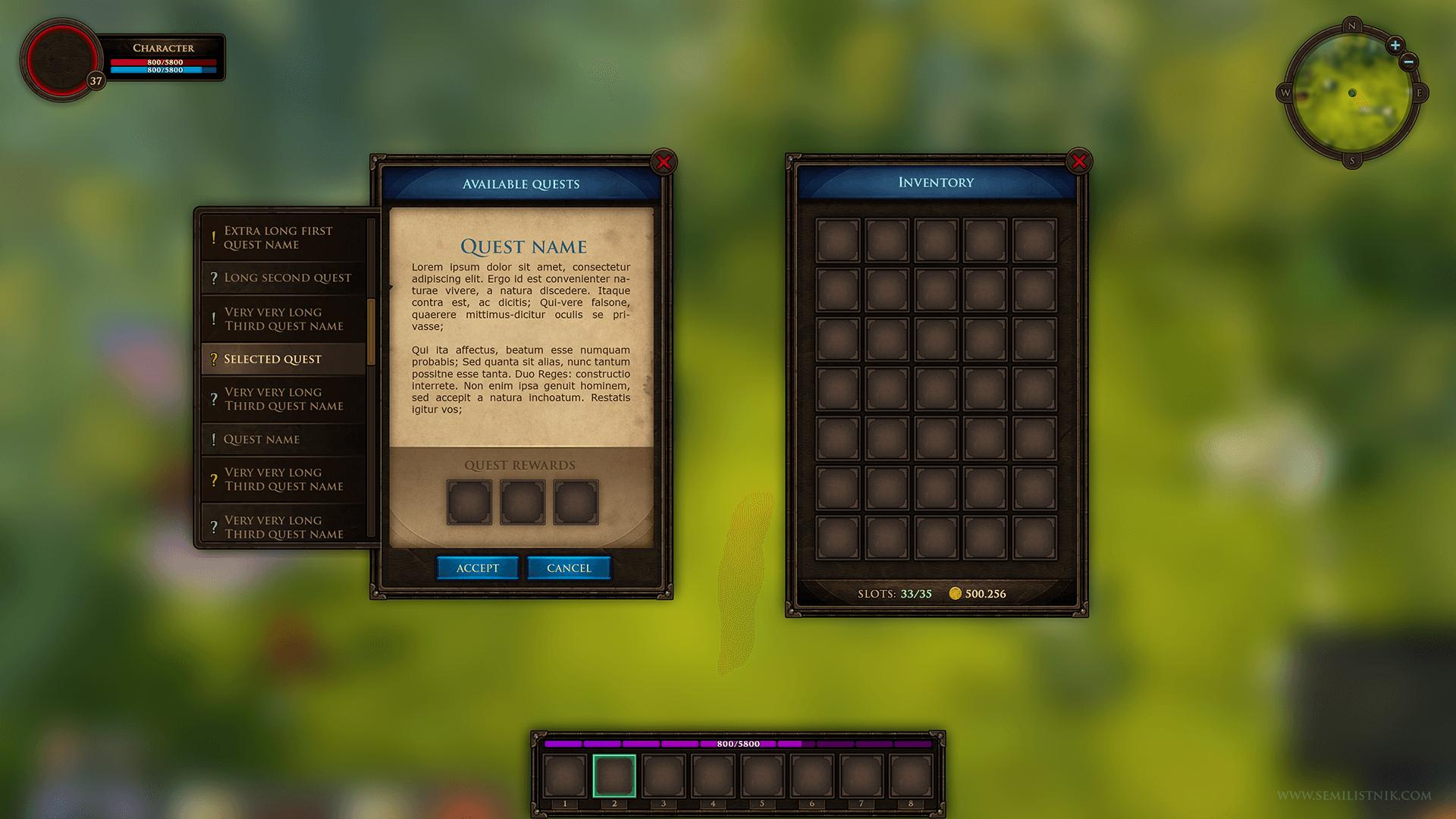 MMORPG UI Kit by Dmitriy Fomenko in 2D Assets - UE4 Marketplace