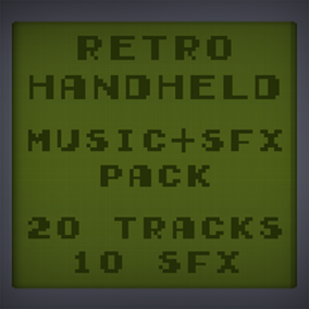 20 Music Tracks + 10 Sound Effects replicating the sound of old retro handhelds.