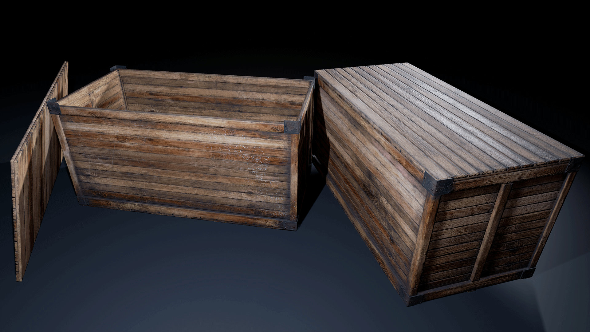 Retro Industrial Crates Pack By Mesh Magnet In Props Ue4