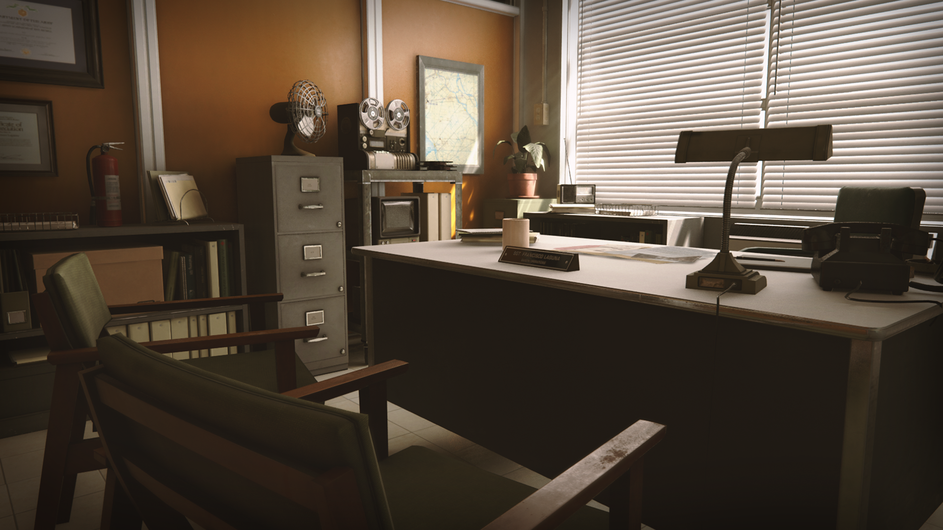 retro office environment by clinton crumpler in environments ue4